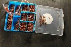 Τεθωρακισμένο ταχυδρομείου χάλυβα δαχτυλιδιών ή αλυσίδων Στοκ Φωτογραφίες