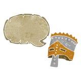 τεθωρακισμένο του βασιλιά κινούμενων σχεδίων με τη λεκτική φυσαλίδα Στοκ Φωτογραφία