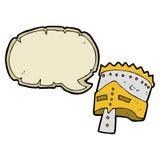 τεθωρακισμένο του βασιλιά κινούμενων σχεδίων με τη λεκτική φυσαλίδα Στοκ εικόνα με δικαίωμα ελεύθερης χρήσης