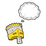 τεθωρακισμένο του βασιλιά κινούμενων σχεδίων με τη σκεπτόμενη φυσαλίδα Στοκ Φωτογραφία
