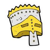 τεθωρακισμένο του κωμικού βασιλιά κινούμενων σχεδίων Στοκ Εικόνα