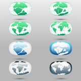 Τεκτονικές πλάκες στο πλανήτη Γη σύγχρονες ήπειροι και σύνολο infographics επίπεδου ύφους εικονιδίων Στοκ φωτογραφία με δικαίωμα ελεύθερης χρήσης