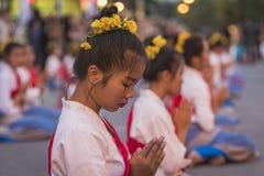 Τελετή έναρξης Loy Krathong και φεστιβάλ Yee Peng σε Chiang μΑ Στοκ Φωτογραφία