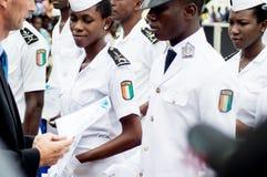 Τελετή βαθμολόγησης για τους νέους ναυτικούς που αφήνουν την ακαδημία στοκ εικόνες
