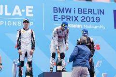 Τελετή επηβραβεύσεων πρωταθλήματος 2019 τύπου Ε FIA ABB στοκ εικόνα