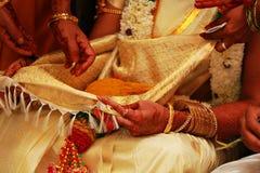 Τελετουργικά νότιου ινδικά γάμου, τελετή νότιου ινδική γάμου Στοκ φωτογραφία με δικαίωμα ελεύθερης χρήσης