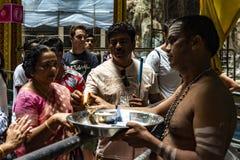 Τελετουργικές πρακτικές Hinduism στοκ φωτογραφίες με δικαίωμα ελεύθερης χρήσης