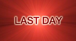τελευταία κόκκινη πώληση ημέρας εμβλημάτων Στοκ εικόνα με δικαίωμα ελεύθερης χρήσης