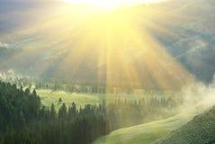 τελευταίος ήλιος ακτίν&o στοκ φωτογραφία