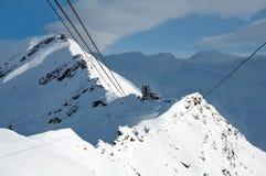 Τελεφερίκ σε Rote Nase, Ελβετία στοκ εικόνες με δικαίωμα ελεύθερης χρήσης