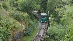 Τελεφερίκ σιδηρόδρομος Bergbana Skansens απόθεμα βίντεο