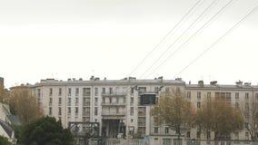 Τελεφερίκ στο Brest, Γαλλία απόθεμα βίντεο