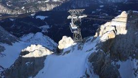 Τελεφερίκ Zugspitze απόθεμα βίντεο