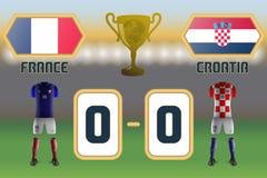 Τελικός Κυπέλλου 2018 ποδοσφαίρου διανυσματική απεικόνιση