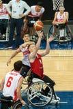 Τελικός πρωταθλήματος καλαθοσφαίρισης παγκόσμιων αναπηρικών καρεκλών Στοκ φωτογραφία με δικαίωμα ελεύθερης χρήσης