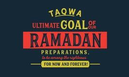 Τελικός σκοπός TAQWA των προετοιμασιών Ramadan μας, για να είναι μεταξύ του δίκαιου για τώρα και για πάντα! ελεύθερη απεικόνιση δικαιώματος
