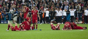 τελικό Μόναχο chelsea Bayern UEFA CL fc εναντίον Στοκ εικόνες με δικαίωμα ελεύθερης χρήσης