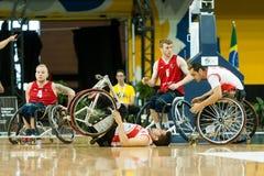 Τελικό πρωταθλήματος καλαθοσφαίρισης παγκόσμιων αναπηρικών καρεκλών Στοκ Εικόνα