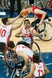 Τελικό πρωταθλήματος καλαθοσφαίρισης παγκόσμιων αναπηρικών καρεκλών Στοκ Εικόνες
