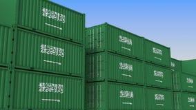 Τελικό σύνολο εμπορευματοκιβωτίων των εμπορευματοκιβωτίων με τη σημαία της Σαουδικής Αραβίας Η εξαγωγή ή η εισαγωγή αφορούσε την  διανυσματική απεικόνιση