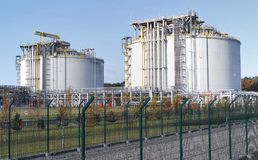 Τελικό LNG σε Swinoujscie Στοκ φωτογραφία με δικαίωμα ελεύθερης χρήσης