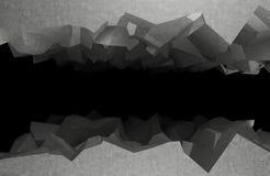 Τεμάχια από τη σκοτεινή άβυσσο τρισδιάστατη απόδοση διανυσματική απεικόνιση