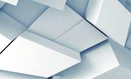 Τεμάχια με τις μαλακές μπλε σκιές, τρισδιάστατες διανυσματική απεικόνιση