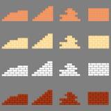 Τεμάχια της πλινθοδομής διανυσματική απεικόνιση