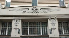 Τεμάχιο Αλμπέρτα 4 προσόψεων οικοδόμησης Nouveau τέχνης οδός Στοκ Φωτογραφίες