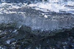 Τεμάχιο ενός λειώνοντας επιπλέοντος πάγου πάγου κοντά επάνω Στοκ φωτογραφίες με δικαίωμα ελεύθερης χρήσης