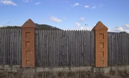 Τεμάχιο ενός ξύλινου φράκτη στοκ φωτογραφίες με δικαίωμα ελεύθερης χρήσης