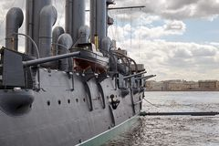 Τεμάχιο ενός παλαιού στρατιωτικού σκάφους ατμού του πρόσφατου - 19$ος αιώνας Στοκ Εικόνες