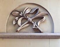 Τεμάχιο της ξύλινης πόρτας στην παλαιά Ρήγα Στοκ Εικόνα