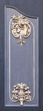 Τεμάχιο της ξύλινης πόρτας στην παλαιά Ρήγα Στοκ φωτογραφία με δικαίωμα ελεύθερης χρήσης