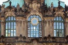 Τεμάχιο της πρόσοψης του περίπτερου κτύπων σε Zwinger, Dresde στοκ εικόνες με δικαίωμα ελεύθερης χρήσης
