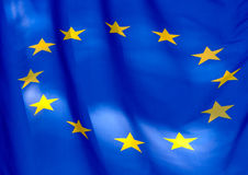 Τεμάχιο της σημαίας της Ευρωπαϊκής Ένωσης Στοκ φωτογραφία με δικαίωμα ελεύθερης χρήσης