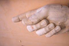 Τεμάχιο του αγάλματος του Constantine, Ρώμη, Ιταλία Στοκ Εικόνες