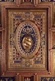 Τεμάχιο του ανώτατου ορίου στο Loggia delle Benedizioni, Ρώμη, Ital Στοκ φωτογραφία με δικαίωμα ελεύθερης χρήσης