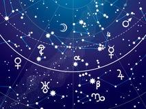 Τεμάχιο του αστρονομικού ουράνιου άτλαντα διανυσματική απεικόνιση