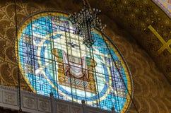 Τεμάχιο του εσωτερικού του ναυτικού καθεδρικού ναού του Άγιου Βασίλη σε Kronstadt Στοκ Φωτογραφίες