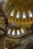 Τεμάχιο του εσωτερικού του ναυτικού καθεδρικού ναού του Άγιου Βασίλη σε Kronstadt Στοκ εικόνες με δικαίωμα ελεύθερης χρήσης