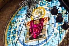 Τεμάχιο του εσωτερικού του ναυτικού καθεδρικού ναού του Άγιου Βασίλη σε Kronstadt Στοκ Εικόνες