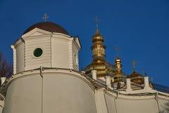 Τεμάχιο του διατηρώντας τοίχου του Κίεβου Pechersk Lavra Behin Στοκ Εικόνα