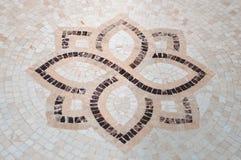 Τεμάχιο του καλλιτεχνικού χειροποίητου υποβάθρου σχεδίου κεραμιδιών, τοπ άποψη κινηματογραφήσεων σε πρώτο πλάνο Στοκ Φωτογραφία
