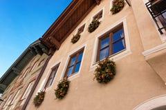 Τεμάχιο του κτηρίου πετρών που διακοσμείται για τα Χριστούγεννα Στοκ εικόνες με δικαίωμα ελεύθερης χρήσης