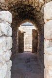 Τεμάχιο του μοναστηριού των καταστροφών του ST Euthymius που βρίσκονται στη βιομηχανική ζώνη Adumim αγγλικής μπύρας μΑ ` στο Ισρα Στοκ Φωτογραφίες