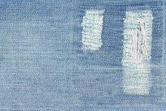 Τεμάχιο του τζιν παντελόνι με το μπάλωμα Στοκ φωτογραφία με δικαίωμα ελεύθερης χρήσης