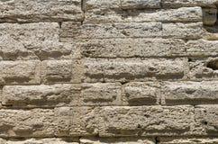 Τεμάχιο του τοίχου πετρών της αρχαίας πόλης στοκ εικόνα