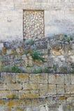 Τεμάχιο του τοίχου πετρών της αρχαίας πόλης στοκ εικόνες