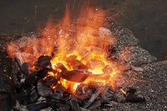 Τεμάχιο του φούρνου για τη θέρμανση των κενών μετάλλων Στοκ Φωτογραφία